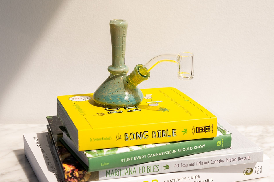 Cannabis-inspired books and smoking accessories